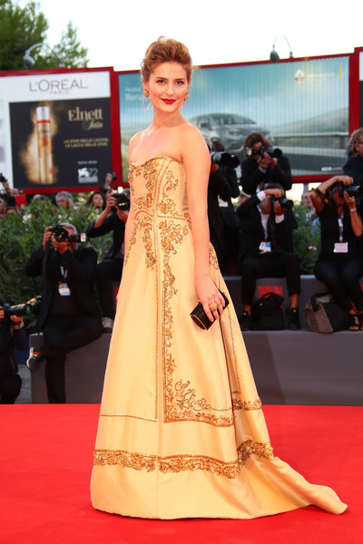 Alberta Ferretti's Lidiya Liberman at the premiere of 'Blood of My Blood' at the Venice Film Festival 2015